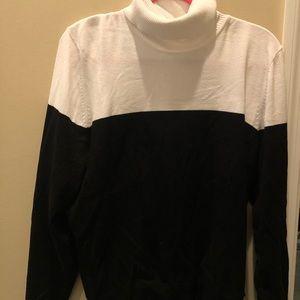 Calvin Klein color block turtle neck sweater